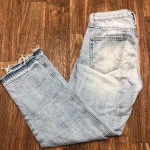 Current/Elliott Crop Straight Leg Jeans